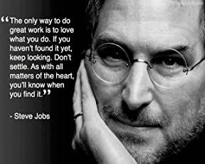 Love st -steve jobs Inspirational,Motivational - Poster for Home and Office