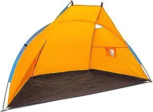 Relaxdays Strandmuschel, Zelt für Strand mit Die folgenden Maßnahmen HBT: 120x 220x 120cm, UV 80+