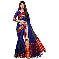 Perfectblue Women's cotton Silk Saree With Blouse Piece New