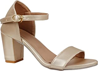 Jking Footwear Casual Party Formal Stylish Trendy Comfortable Synthetic Leather Block Heel Sandals Women & Girls