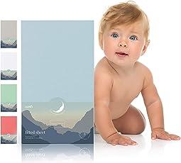 Spannbettlaken für Babybett Kinderbett - 60x120 bis 70x140 cm, atmungsaktiv, 100% Baumwolle (1er, 2er Set)