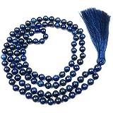Givereldi Pietra Preziosa bracciale di perle di mala 108 perline da 6 mm di larghezza - con nodi in mezzo più 1 grande guru d