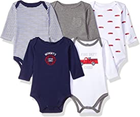 Hudson Baby Baby Long Sleeve Bodysuit 5 Pack