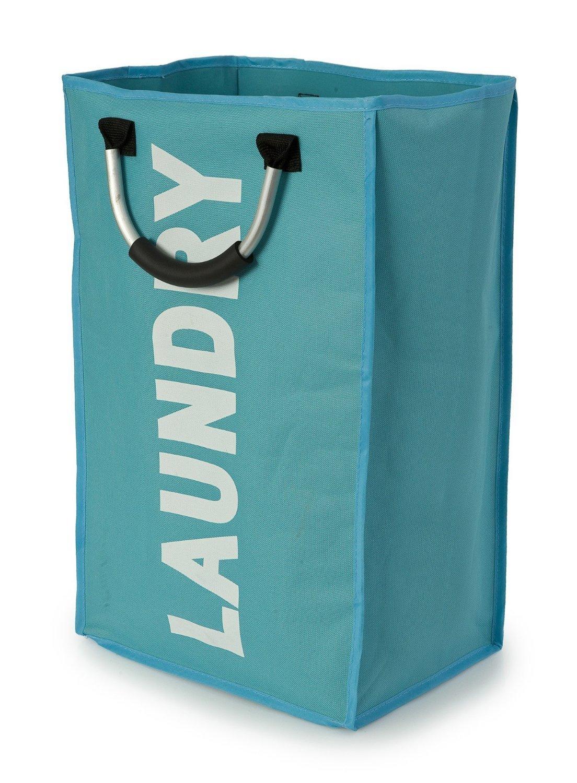 folding collapsible laundry basket bag bin storage hamper with aluminium handles amazoncouk kitchen u0026 home