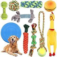 Giochi Cane,Giocattoli per Cani Cotone Naturale,Corda da Masticare Resistenti e Lavabili per La Pulizia dei Denti, Corda…