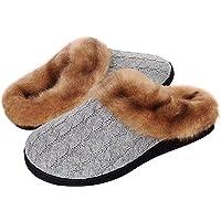 Inverno Pantofole Donna Uomo Ciabatte Peluche Scarpe da Casa Morbido Antiscivolo Caldo Comode Memoria Schiuma Pantofole…