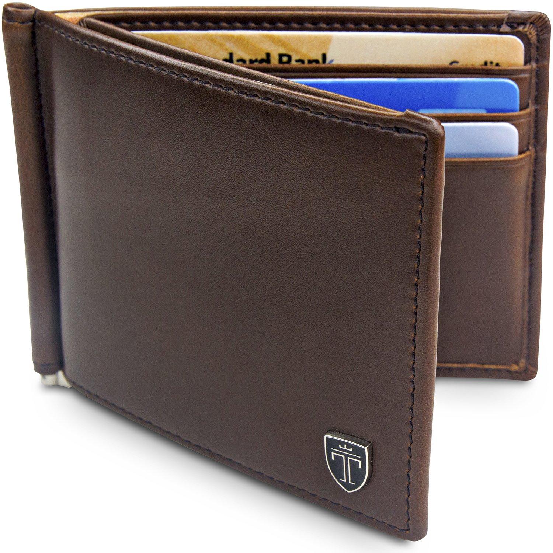 e8fb963b72 TRAVANDO ® Portafoglio Uomo con Clip per contanti VIENNA - 8 Tasche ...