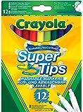 Crayola 101584084 Disney SuperTips Washable Felt Tip Colouring Pens, Pack of 12, Bright, 12 pk