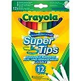 Crayola Pennarelli Lavabili, Punta Media, per Scuola e Tempo Libero, Colori Assortiti, 12 Pezzi, 7509-12