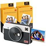 Kodak Mini Shot 2 Retro, camara instaneae e impresora fotos movil, iOS e Android, Bluetooth, Tecnologia 4Pass, 54x86mm -Bianc