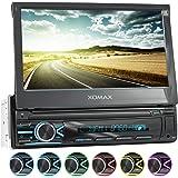 """XOMAX XM-V746 Autoradio I Moniceiver I Fonction sans Fil Bluetooth I Écran Tactile de 7"""" 18cm I Miroir de l'écran avec Android I RDS I SD I USB I 1 DIN"""