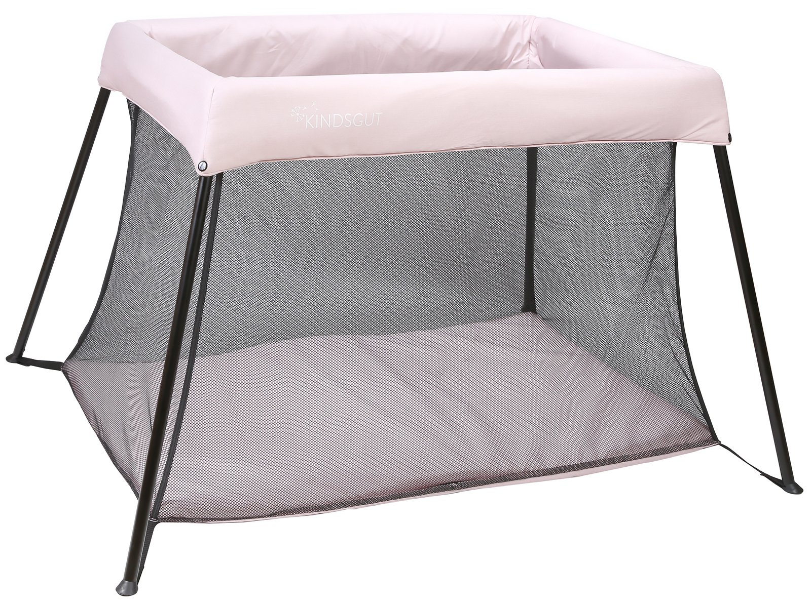 Kindsgut playpen, Stable Travel cot, Delicate Pink Kindsgut Dream area and play paradise for babies, playpen with reclining surface of 100 cm x 58 cm Baby playpen made of eco-friendly materials, free of harmful substances and child appropriate with special design Different colors for boys and girls 1