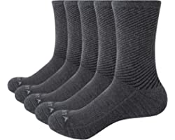 YUEDGE Women's Wicking Cushion Anti Blister Crew Socks Outdoor Multi Performance Hiking Trekking Running Walking Socks