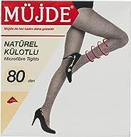 Müjde Kadın Natürel Külotlu Çorap, 80 Denye 3'lü Paket
