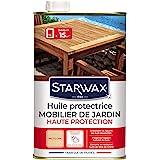 STARWAX Huile Protectrice Teck & Bois Exotiques pour Mobilier de Jardin - 1L - Idéal pour Nourrir en Profondeur, Préserver du