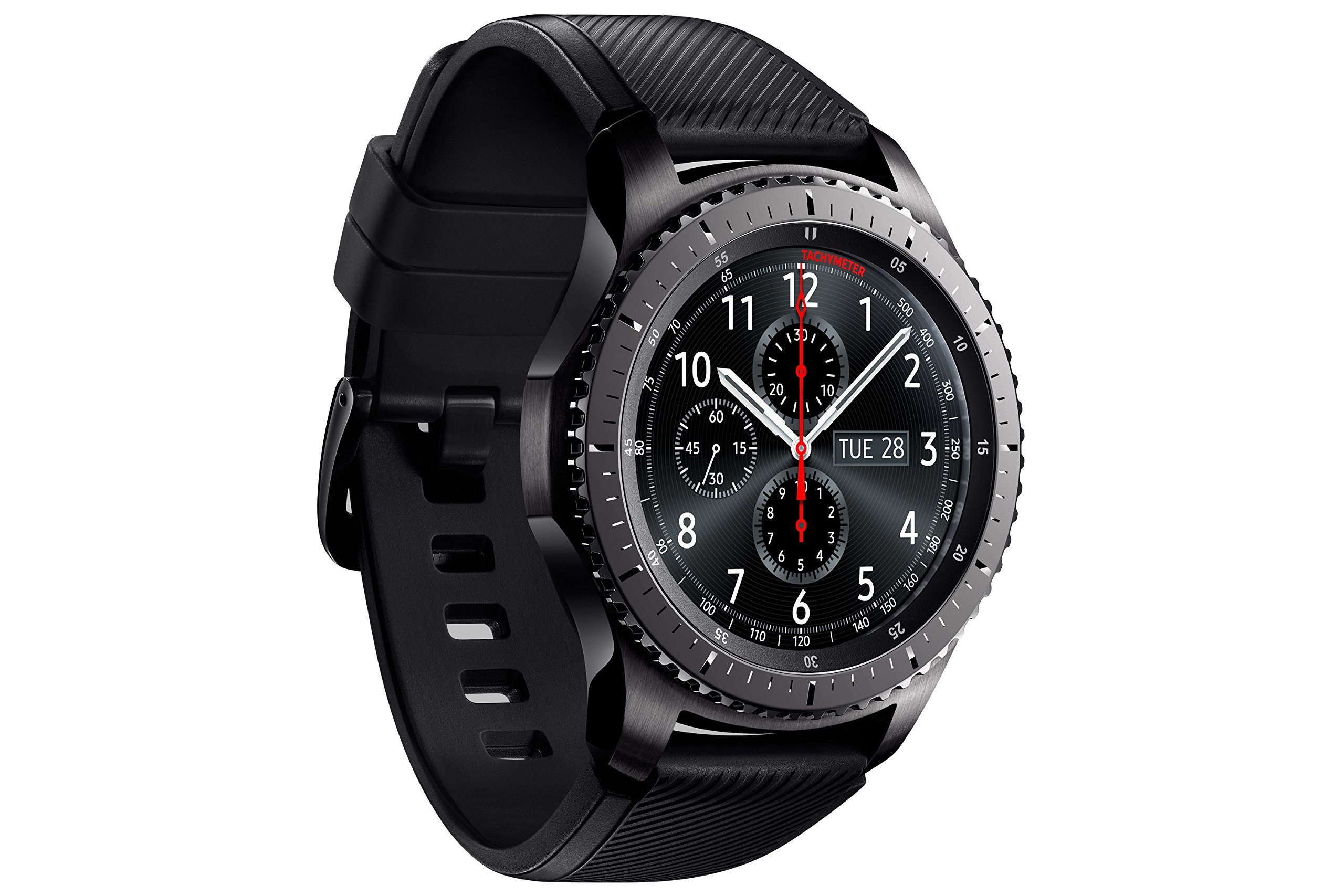 "Samsung Gear S3 Frontier - Smartwatch Tizen (pantalla 1.3"" Super AMOLED 360x360, GPS integrado, batería 380 mAh, altavoz integrado), color Gris (Space Gray)- Version española 7"
