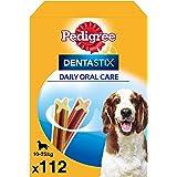 Pedigree Dentastix Daily Dental Dog Chews, medium,  112 bastoncini (4 x 4 x180 g)