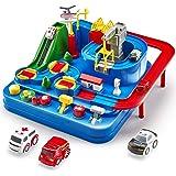 CubicFun Pista de Coches para Niños 3 4 5 6 7 8 años, City Rescue Pista Cars Juguetes de Aventura Playsets, Pista Coches de J
