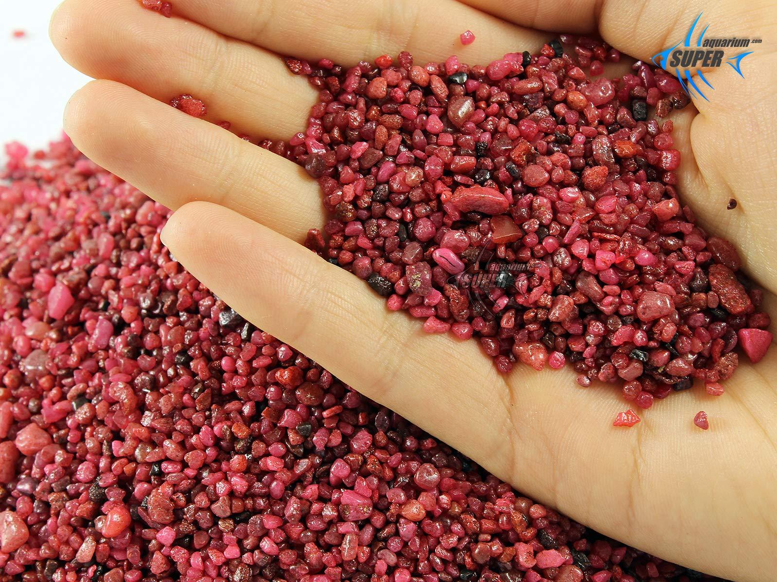 Aquarium Tropical Fish Tank Gravel Color, Aquarium Substrate Sand, Aquarium  Fish Tank Stones (RED, 1 8kg)