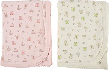 Zero Baby Infant Toddler Cotton Blanket/Wrapping Sheet/Swaddler / Receiving Blanket/Multi Purpose Cloth (Pack of 2) for New Borns to 1.5 Years