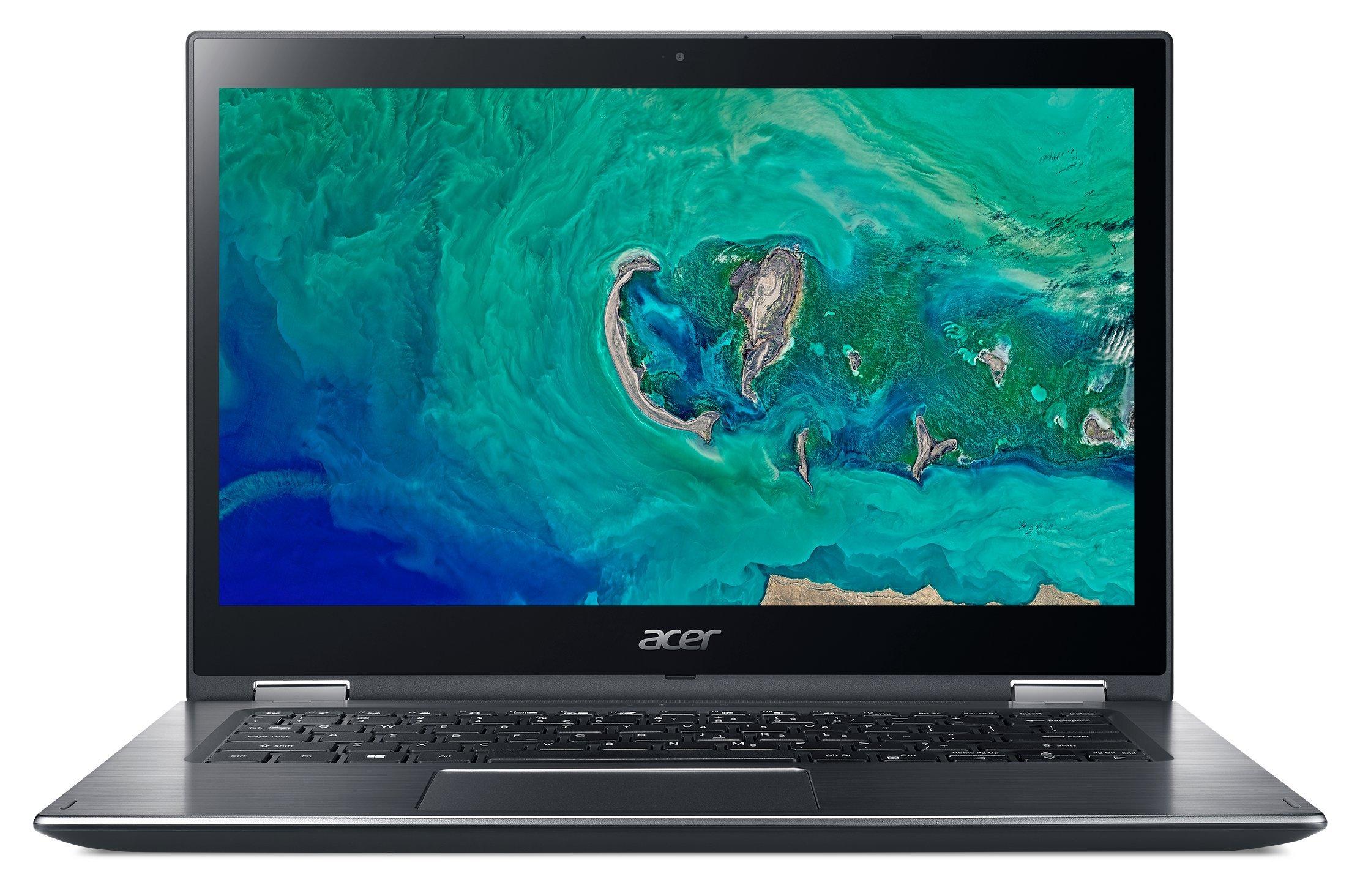 Acer Spin 3 SP314-51-52ZL – Ordenador portátil de 14″ Full HD (Intel Core i5-8250U, 4 GB RAM, 16 GB Intel Optane, 1000 GB HDD, UMA, Windows 10 Home) Gris- Teclado QWERTY Español