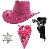 Zac's Alter Ego Fancy Dress Unisex 4 Piece Cowboy Set