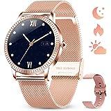 GOKOO Relojs Inteligente Mujer Smartwatch Deportivo Fitness Monitores Actividad Pulsera Actividad Inteligente Pantalla Táctil