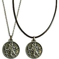 Medaglia di San Cristoforo vista nella serie Netflix DARK - collana religiosa - moneta - ciondolo - Patrono - Santo…