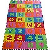 floordirekt Casa Pura Puzzlematte Eva Schadstofffrei Kinderspielteppich Spielmatte für Kinder-Garden Eva 36 (86 Stück.)