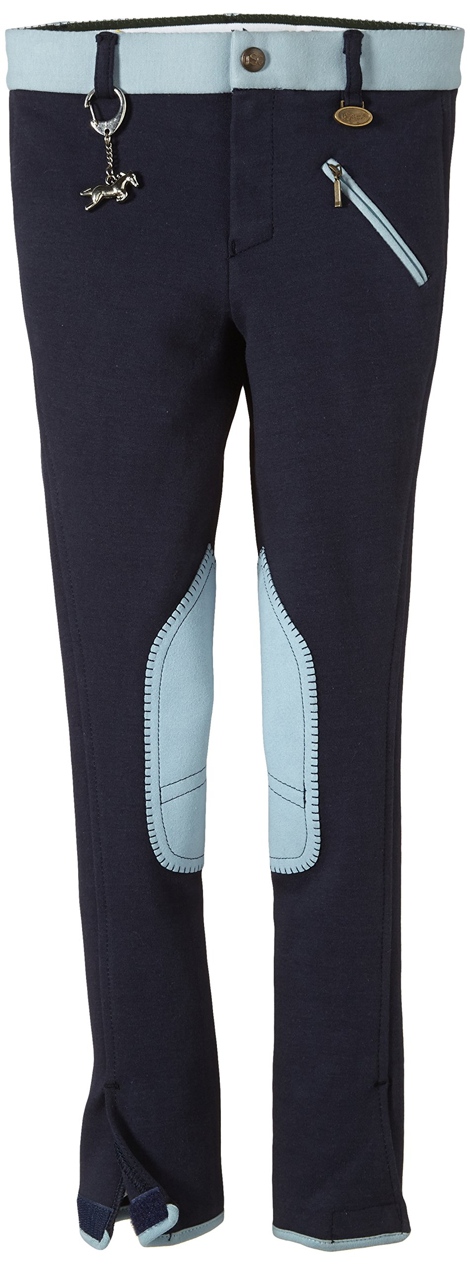 USG United Sportproducts, Pantaloni da cavallerizzo Bambino Emilia, Blu (Marine/Hell Blau), 152 cm
