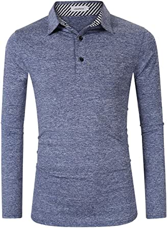 Clearlove Men's Solid Colour Casual Golf Tops Shirts Polo