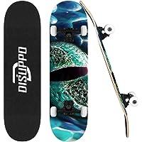 """DISUPPO skateboard per principianti, skateboard completo 31 """"x 7.8"""" Pro, 7 strati acero doppio calcio concavo standard e…"""