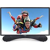 Linsar 24 Pouces TV, X24DVD-MK2, 3in1, TV+ SoundBAR + Lecteur DVD, Barre de Son intégrée et Lecteur DVD, FHD, HDMI, USB, VGA. Noir, efficacité énergétique A