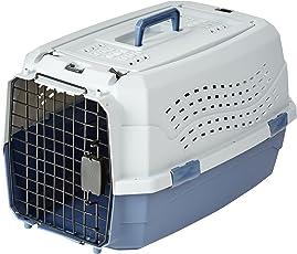 AmazonBasics Transportbox für Haustiere, 2 Türen, 1 Dachöffnung