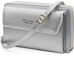 HNOOM Handy Umhängetasche Damen Handytasche zum Umhängen Handy Schultertasche Brieftasche Klein Crossbody Tasche Handy Geldbe