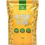 Mandelmehl 1kg, Glutenfrei 100%, Teilentölt Extra Fein Blanchiert Naturbelassen Almond Flour