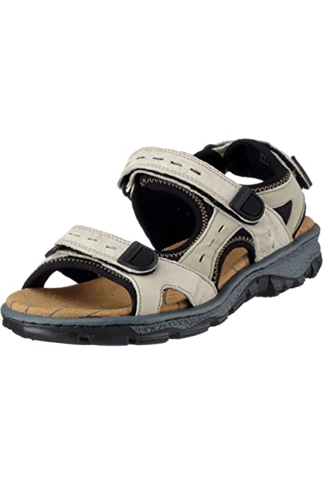 Rieker 68872-25 Ladies Womens Leather Touch Close Summer Sports Sandals Brown
