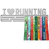 United Medals I LOVE RUNNING, Sport Medaille Hanger Display | Geborsteld Roestvrij Staal houder medaillehanger (Max. 48 Medai