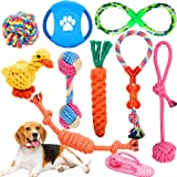 Wimypet Giocattoli per Cani Cotone Naturale,Corda da Masticare Resistenti e Lavabili per La Pulizia dei Denti, Giochi Interat