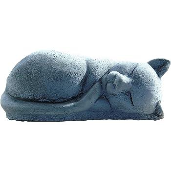 Sleeping Cat Kitten Stone Garden Ornament 16x9x6 cm 1.05 Kg Hand Cast