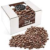 FoodCrew 900g di Gocce di Cioccolato Fondente al Latte - Per Fonduta di Cioccolato - 10 Porzioni da 90 g Confezionate Singola