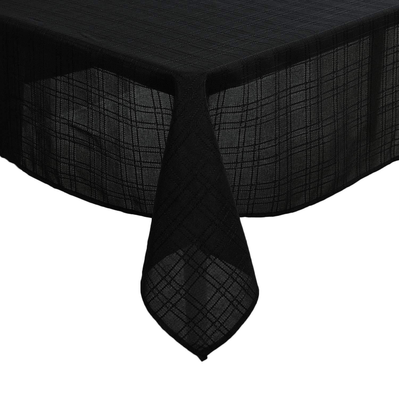 deconovo nappe rectangulaire effet lin imperm able motif carreau inspid co. Black Bedroom Furniture Sets. Home Design Ideas