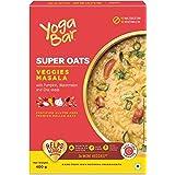 Yogabar Veggie Masala Oats 400g   Masala Oats with 3X More Veggies, Pumpkin, Watermelon and Chia Seeds   Gluten Free, Non GMO