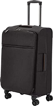 AmazonBasics Belltown Softside Rolling Spinner Suitcase Luggage - 25 Inch, Heather Black