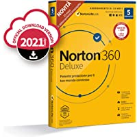 Norton 360 Deluxe 2021, Antivirus per 5 Dispositivi Licenza di 15 mesi, Secure VPN e Password Manager PC, Mac, tablet e…