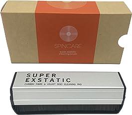 Super Exstatic Anti-statisches Vinyl-Schallplatten-Reinigungskissen, Staubwischer, aus Kohlefaser und Samt