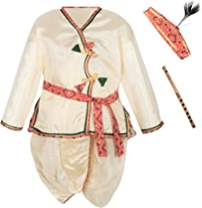 Bownbee Kanhaiya Dhoti Kurta for Boys - White