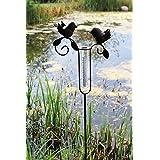Pluviometro Beet spina da giardino piante spina in metallo e vetro marrone 110cm