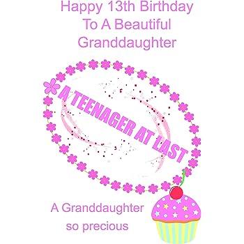 Granddaughter 13 Birthday Card