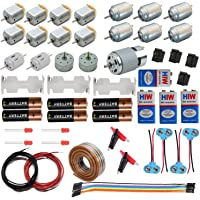 IDUINO® Science Project kit School, DC Motor kit 12V 7000-14000 RPM DC Motor Kit with 6-Pieces Small Electronic and…